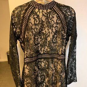 Black Parisian Mini Dress Size 12 Tall (16 UK)